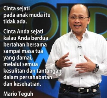Kata kata Mutiara Cinta Mario Teguh 1