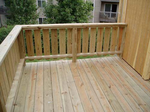 flat slat railing deck
