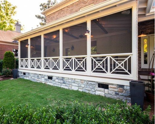 Criss Cross Porch Railing