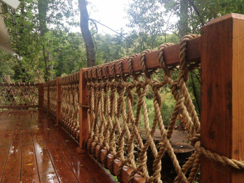 rope railing deck