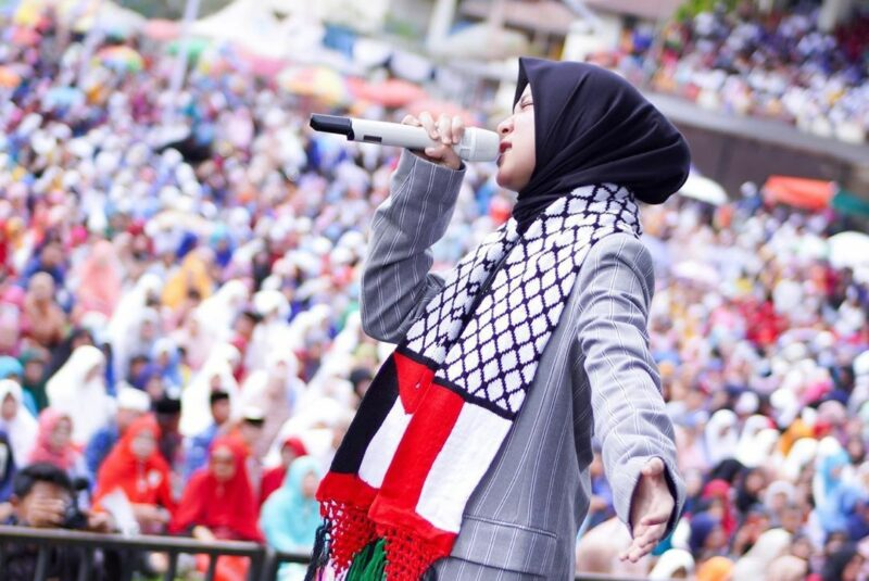 nissa sabyan palestina